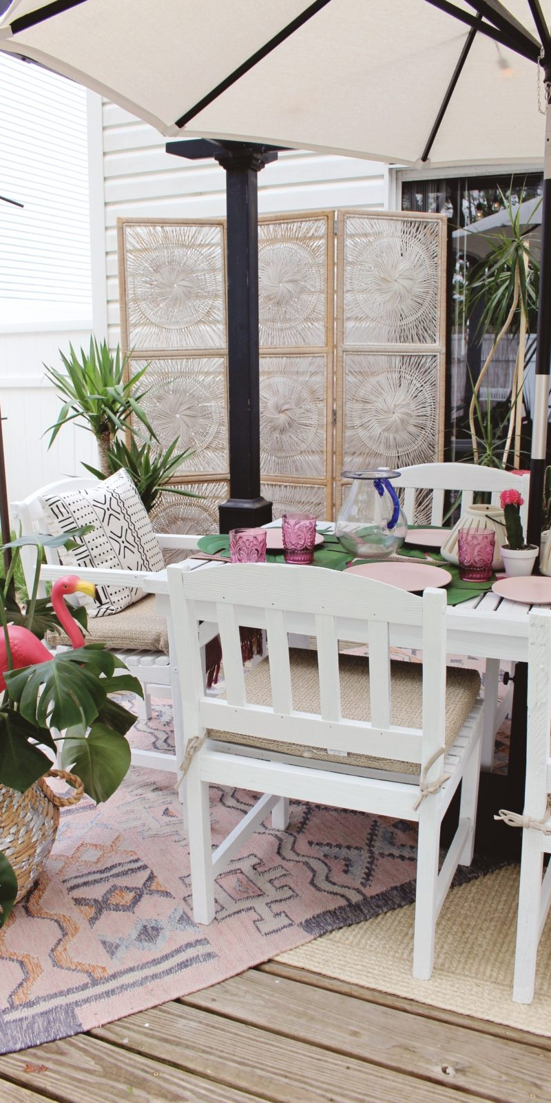 Boho Paradise Patio Makeover With World Market U2013 Before And After