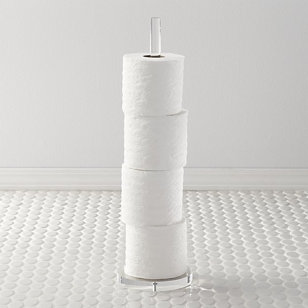 acrylic toilet paper tower holder