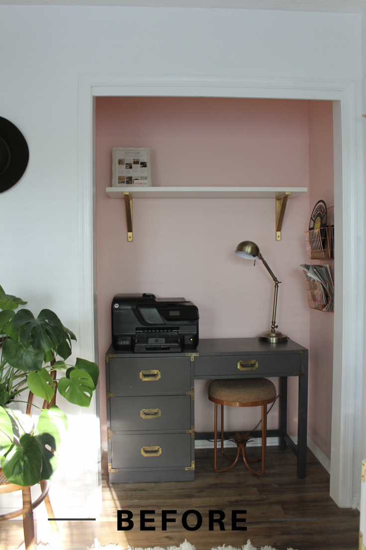 Pink Office Nook