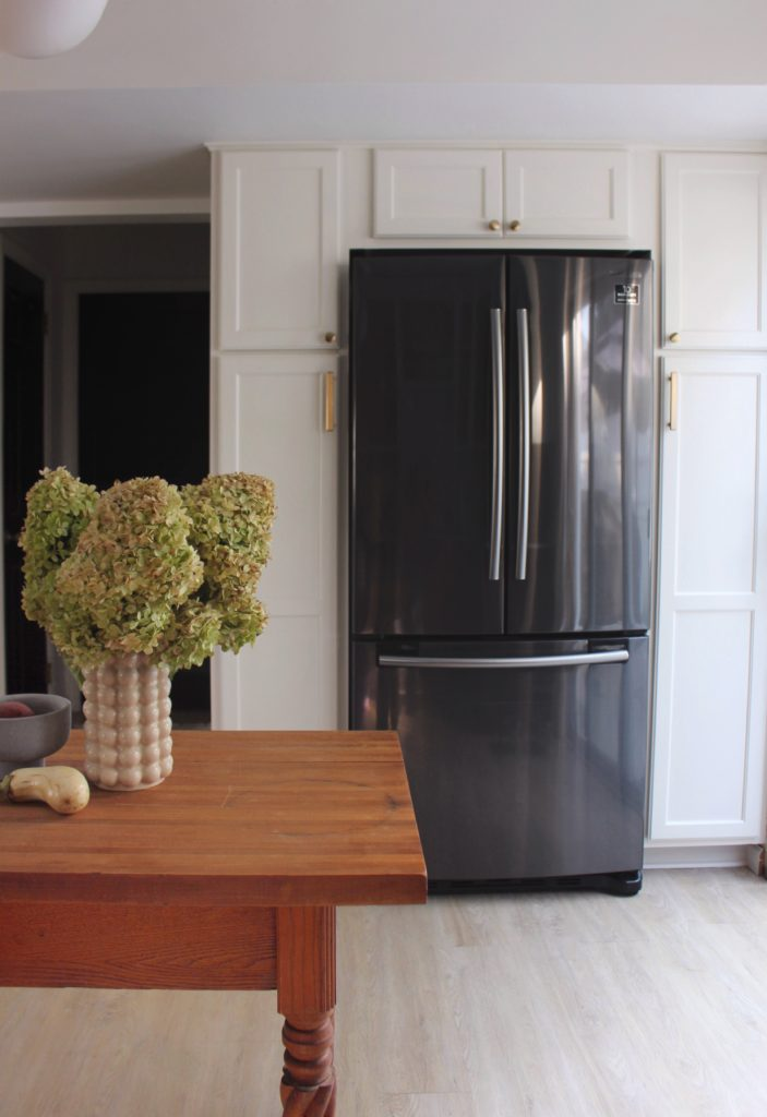 Samsung black stainless steel fridge